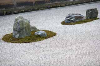 photo,material,free,landscape,picture,stock photo,Creative Commons,The Rock Garden in The Temple of the Peaceful Dragon, World Heritage, Rock garden, Zen temple, Muromachi Shogunate