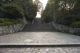 photo,material,free,landscape,picture,stock photo,Creative Commons,Chionin Institute stone steps, Buddhism, Cobblestone, Stairs, Zen temple