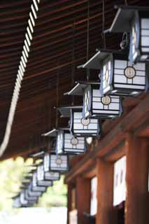 photo,material,free,landscape,picture,stock photo,Creative Commons,Lamp in Kashihara Shrine, Shinto, , Light, Lighting
