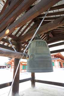 photo,material,free,landscape,picture,stock photo,Creative Commons,Yakushi-ji Temple bell tower, I am painted in red, The Buddha of Healing, Buddhist monastery, Chaitya