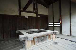photo,material,free,landscape,picture,stock photo,Creative Commons,The well of Himeji-jo Castle, Four national treasures Castle, Sadanori Akamatsu, Shigetaka Kuroda, Hideyoshi Hashiba