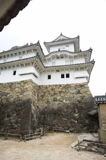 photo,material,free,landscape,picture,stock photo,Creative Commons,Himeji-jo Castle Inui small castle tower, Four national treasures Castle, Sadanori Akamatsu, Shigetaka Kuroda, Hideyoshi Hashiba