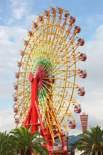 photo,material,free,landscape,picture,stock photo,Creative Commons,A Ferris wheel, port, An amusement park, playground equipment, tourist attraction