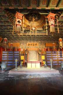 photo,material,free,landscape,picture,stock photo,Creative Commons,Foster's hall of the palace, wooden building, Impartiality Ninna, An Emperor's chair, I am painted in red