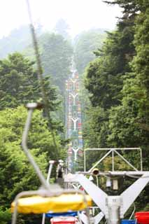 photo,material,free,landscape,picture,stock photo,Creative Commons,An echo lift of Mt. Takao, lift, Sightseeing, Mountain climbing, Hiking