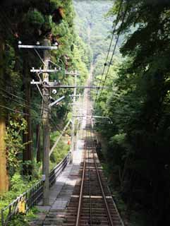 photo,material,free,landscape,picture,stock photo,Creative Commons,The tunnel of the cable car, tunnel, track, cable car, steep grade