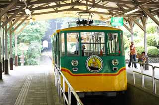 photo,material,free,landscape,picture,stock photo,Creative Commons,Mt. Takao cable car, track, mountain climbing visitor, Hiking, An excursion