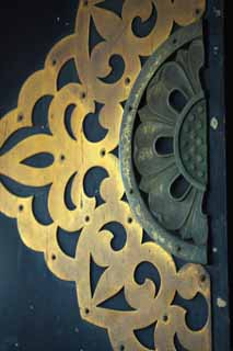 photo,material,free,landscape,picture,stock photo,Creative Commons,The metal fittings of the Senso-ji Temple door, Metal, flower, Asakusa, Senso-ji Temple