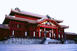 photo,material,free,landscape,picture,stock photo,Creative Commons,Main building of Shuri Castle, red, , ,