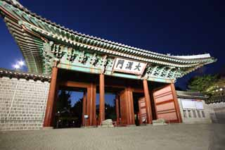 photo,material,free,landscape,picture,stock photo,Creative Commons,The virtue Kotobuki shrine size Han gate, palace building, I am painted in red, sloppy image, Tradition architecture