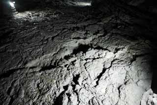 photo,material,free,landscape,picture,stock photo,Creative Commons,The floor of the overabundance of vigor cave, Manjang gul Cave, Geomunoreum Lava Tube System, volcanic island, basement