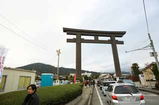 photo,material,free,landscape,picture,stock photo,Creative Commons,Three-wheeled Shinto shrine Otorii, Shinto, Prevention against evil, Precincts, Shinto shrine gate