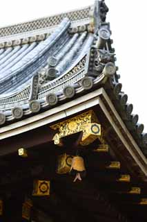 photo,material,free,landscape,picture,stock photo,Creative Commons,Ninna-ji Temple inner temple, ridge-end tile, main room structure, Chaitya, world heritage