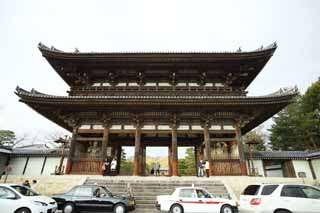 photo,material,free,landscape,picture,stock photo,Creative Commons,The Ninna-ji Temple Nio guardian deity gate, Deva gate, Case mother appearance of a house, Japanese architectural style, famous temple with a venerable history