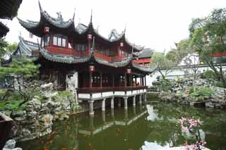 photo,material,free,landscape,picture,stock photo,Creative Commons,Mt. Yuyuan Garden command temple, Joss house garden, , Chinese food style, pond