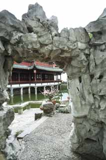 photo,material,free,landscape,picture,stock photo,Creative Commons,Yuyuan Garden deformed limestone, Joss house garden, , deformed limestone, Chinese building
