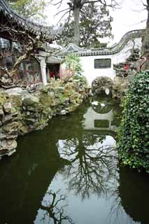 photo,material,free,landscape,picture,stock photo,Creative Commons,Yuyuan Garden waterway, Joss house garden, , waterway, Chinese building