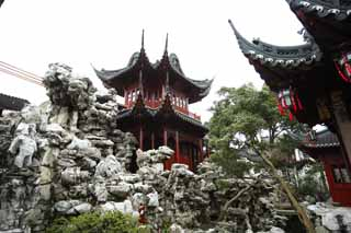 photo,material,free,landscape,picture,stock photo,Creative Commons,Yuyuan Garden, Joss house garden, , Chinese food style, I am painted in red