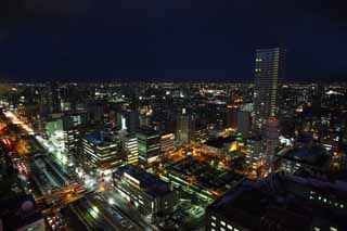 photo,material,free,landscape,picture,stock photo,Creative Commons,A night view of Sapporo, city, Illuminations, light, I am beautiful