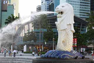 photo,material,free,landscape,picture,stock photo,Creative Commons,Merlion, Singapure, Merlion park, mermaid, Ancient city