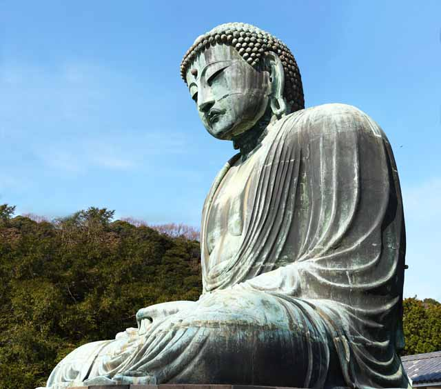 photo,material,free,landscape,picture,stock photo,Creative Commons,Kamakura great statue of Buddha, , , Soong style, Buddhism sculpture