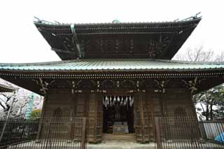 photo,material,free,landscape,picture,stock photo,Creative Commons,Ikegami front gate temple storehouse for keeping the Buddhist scripture, Takashi Nichiren, Chaitya, ring storehouse, All the Buddhist sutras for Amagai