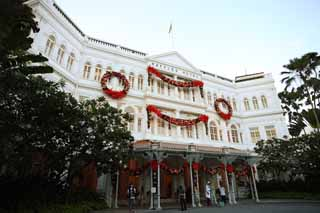 photo,material,free,landscape,picture,stock photo,Creative Commons,Raffles hotel, colonial hotel, colonial style, Singapore sling, Singapore hotel