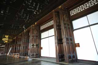 photo,material,free,landscape,picture,stock photo,Creative Commons,West Honganji shrine in which the founder's image is installed in, Honganji, Chaitya, door, wooden building