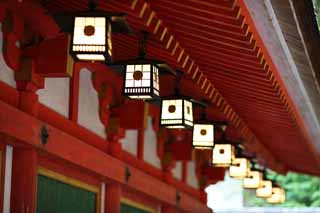 photo,material,free,landscape,picture,stock photo,Creative Commons,Ishigami major shrine garden lantern, The Japanese Chronicle of Japan, description of folk history, garden lantern, I am painted in red