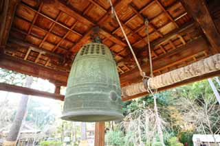 photo,material,free,landscape,picture,stock photo,Creative Commons,Daigo-ji Temple bell, Chaitya, Buddhist image, temple bell, bell tower