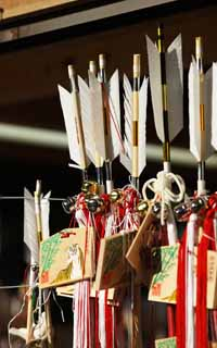 photo,material,free,landscape,picture,stock photo,Creative Commons,Hachiman-gu Shrine New Year's exorcising arrow, New Year holidays, mascot, Good luck, The arrow of the talisman against evil