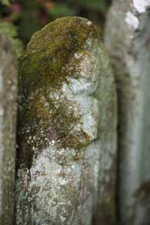 photo,material,free,landscape,picture,stock photo,Creative Commons,Hase-dera Temple Ishibotoke, stone statue, Moss, Buddhism, Chaitya