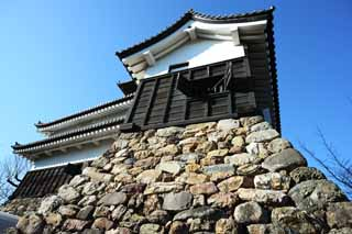 photo,material,free,landscape,picture,stock photo,Creative Commons,The Inuyama-jo Castle castle tower, white Imperial castle, Etsu Kanayama, castle,