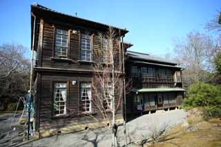 photo,material,free,landscape,picture,stock photo,Creative Commons,A director Meiji-mura Village Museum learning official dwelling, building of the Meiji, The Westernization, Western-style building, Cultural heritage