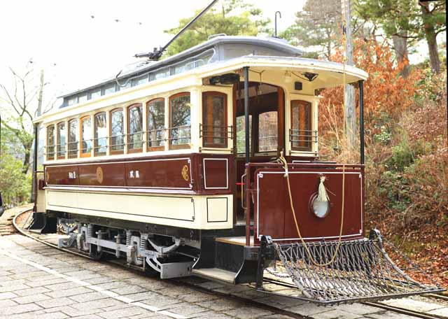 photo,material,free,landscape,picture,stock photo,Creative Commons,Meiji-mura Village Museum Kyoto streetcar, train of the Meiji, The Westernization, streetcar, Cultural heritage