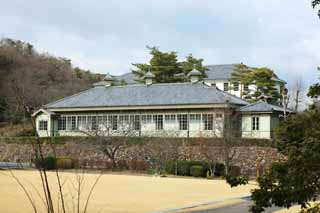 photo,material,free,landscape,picture,stock photo,Creative Commons,Meiji-mura Village Museum Japanese Red Cross Society medical center ward, building of the Meiji, The Westernization, Western-style building, Cultural heritage