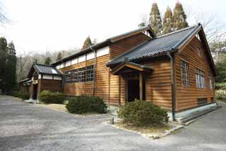 photo,material,free,landscape,picture,stock photo,Creative Commons,The fourth Meiji-mura Village Museum Senior High School martial arts dojo studio [a silent temple], building of the Meiji, The Westernization, Western-style building, Cultural heritage