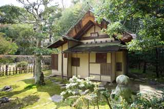 photo,material,free,landscape,picture,stock photo,Creative Commons,Koraku-en Garden tea shrine dedicated to a religious sect's founder, tea-ceremony room, Tea ceremony, Rikyu Senno, Japanese culture